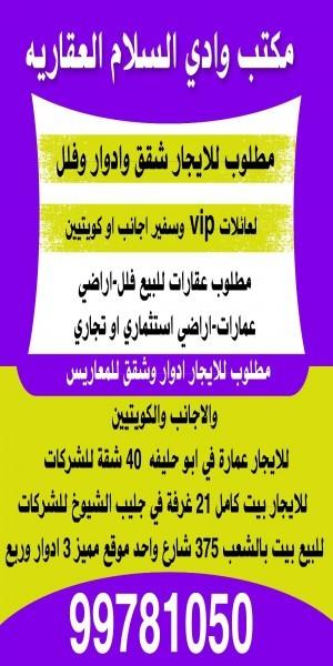 مكتب وادي السلام العقارية